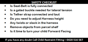 Baby car seat safety-check list